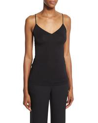 Camiseta sin manga negra de Diane von Furstenberg
