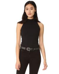 Camiseta sin manga negra de Enza Costa