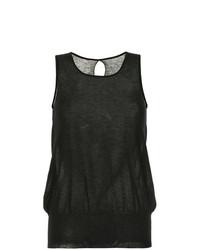 Camiseta sin manga negra de Uma Wang