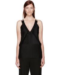 Camiseta sin manga plisada negra de Givenchy