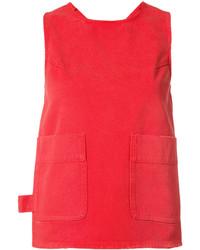 Camiseta sin manga roja de MM6 MAISON MARGIELA
