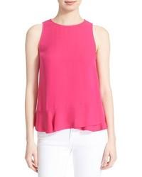 Camiseta sin manga rosa de Diane von Furstenberg