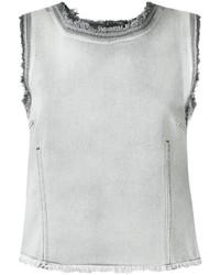 Camiseta sin manga vaquera gris de Golden Goose Deluxe Brand