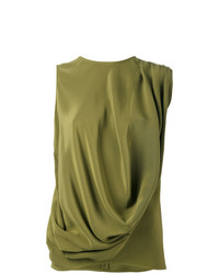 Camiseta sin Manga Verde Oliva de Gianluca Capannolo