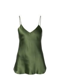 Camiseta sin Manga Verde Oliva de Nili Lotan