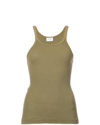 Camiseta sin Manga Verde Oliva de RE/DONE
