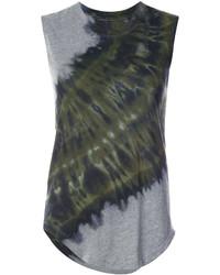 Camiseta sin manga verde oscuro de Raquel Allegra