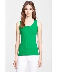 Camiseta sin manga verde de Burberry