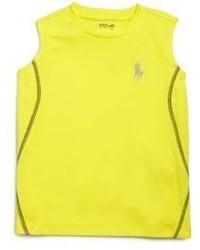 Camiseta sin mangas amarilla