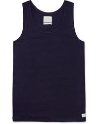 Camiseta sin mangas azul marino