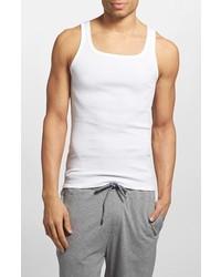 Camiseta sin mangas blanca de Hugo Boss