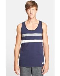 Camiseta sin mangas de rayas horizontales en azul marino y blanco de Saturdays Nyc