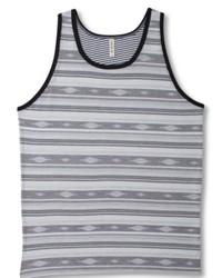 Camiseta sin mangas de rayas horizontales gris