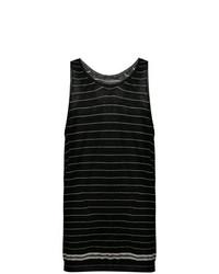 Camiseta sin mangas de rayas horizontales negra de Haider Ackermann