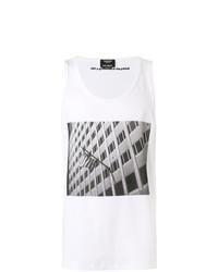 Camiseta sin mangas estampada blanca de Calvin Klein 205W39nyc
