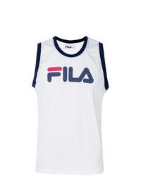 Camiseta sin mangas estampada blanca de Fila