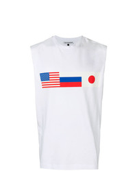 Camiseta sin mangas estampada blanca de Gosha Rubchinskiy