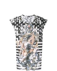 Camiseta sin mangas estampada negra de Balmain