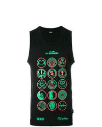 Camiseta sin mangas estampada negra de Ktz
