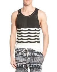 Camiseta sin mangas estampada negra de Sol Angeles