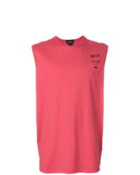 Camiseta sin mangas estampada rosa de Stone Island Shadow Project