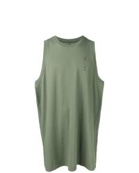 Camiseta sin mangas estampada verde oliva de Unravel Project