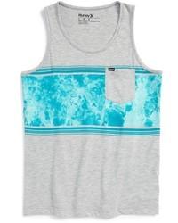 Camiseta sin mangas gris de Hurley