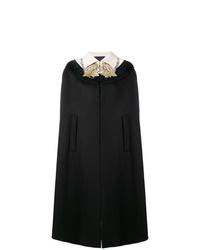 Capa con adornos negra de Gucci