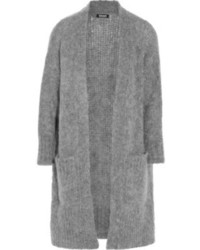 Cárdigan abierto de punto gris de DKNY