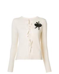 Cárdigan bordado blanco de Marc Jacobs