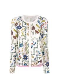 Cárdigan con print de flores blanco de Tory Burch