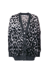 Cárdigan de leopardo en gris oscuro de Stella McCartney