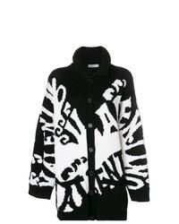 Cárdigan estampado en negro y blanco de Valentino