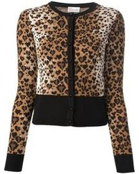 Cardigan imprimé léopard marron RED Valentino