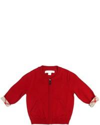 Cárdigan rojo de Burberry