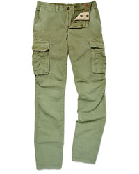 A khaki cardigan and cargo pants is a versatile combination that will provide you with variety.