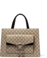 Cartable en toile beige Gucci