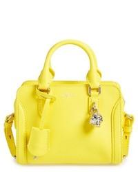 Cartera de Cuero Amarilla de Alexander McQueen