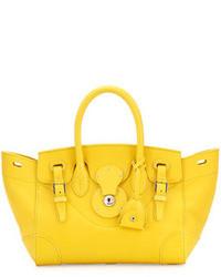 Cartera de cuero amarilla de Ralph Lauren