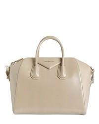 Cartera de cuero en beige de Givenchy