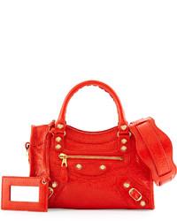 Cartera de cuero roja de Balenciaga
