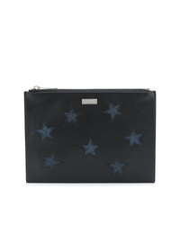 Cartera sobre de cuero bordada negra de Stella McCartney