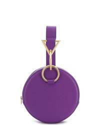Cartera sobre de cuero en violeta de Tara Zadeh