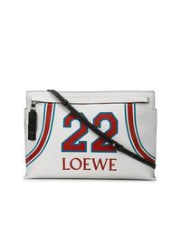 Cartera sobre de cuero estampada blanca de Loewe