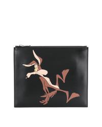 Cartera sobre de cuero estampada negra de Calvin Klein 205W39nyc