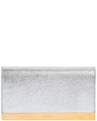 Cartera sobre de cuero gris de Saint Laurent