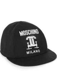 Casquette noire et blanche Moschino