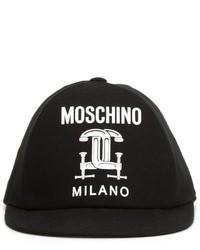 Casquette noire Moschino