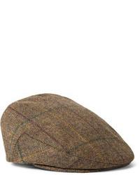 Casquette plate écossais brun Lock & Co Hatters