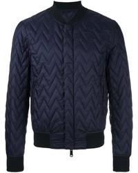 Cazadora de aviador acolchada azul marino de Armani Jeans